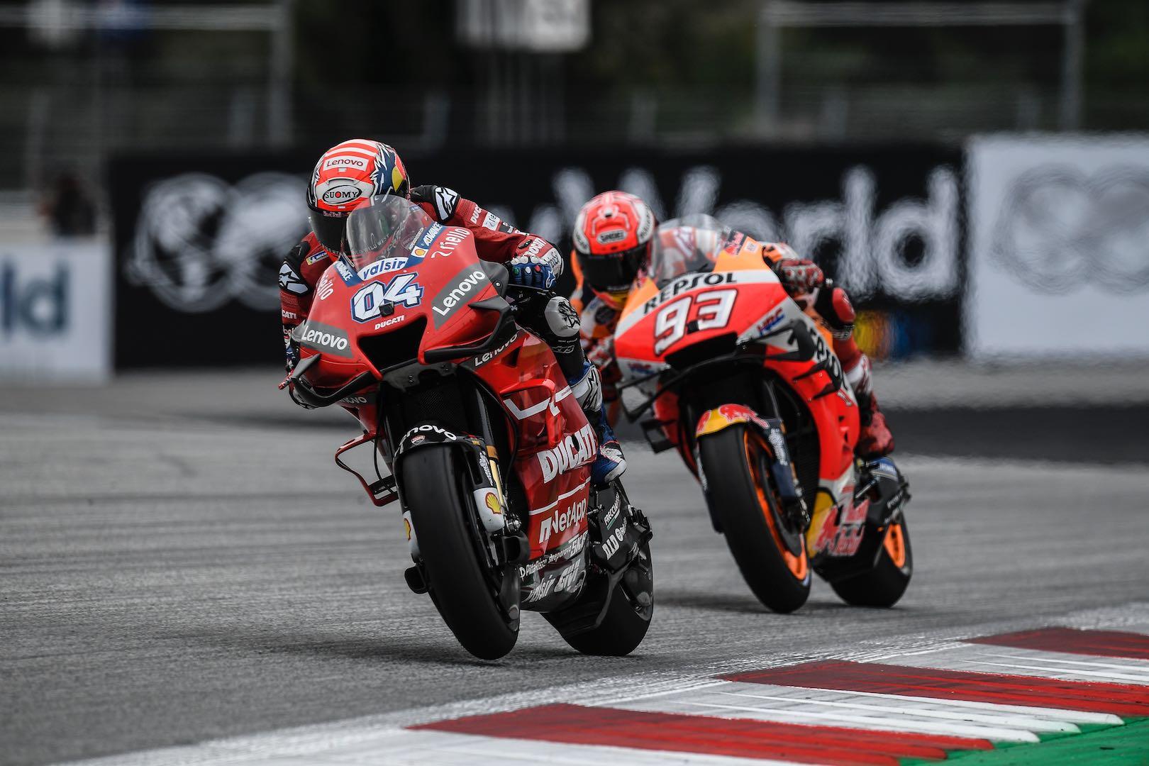 Ducati's Dovizioso and Honda's Marc Marquez