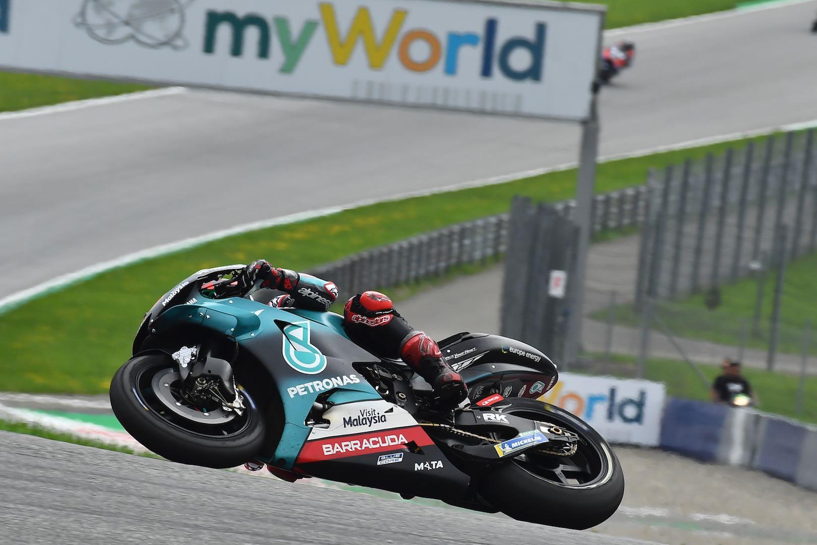 Yamaha's Fabio Quartararo at Austria MotoGP