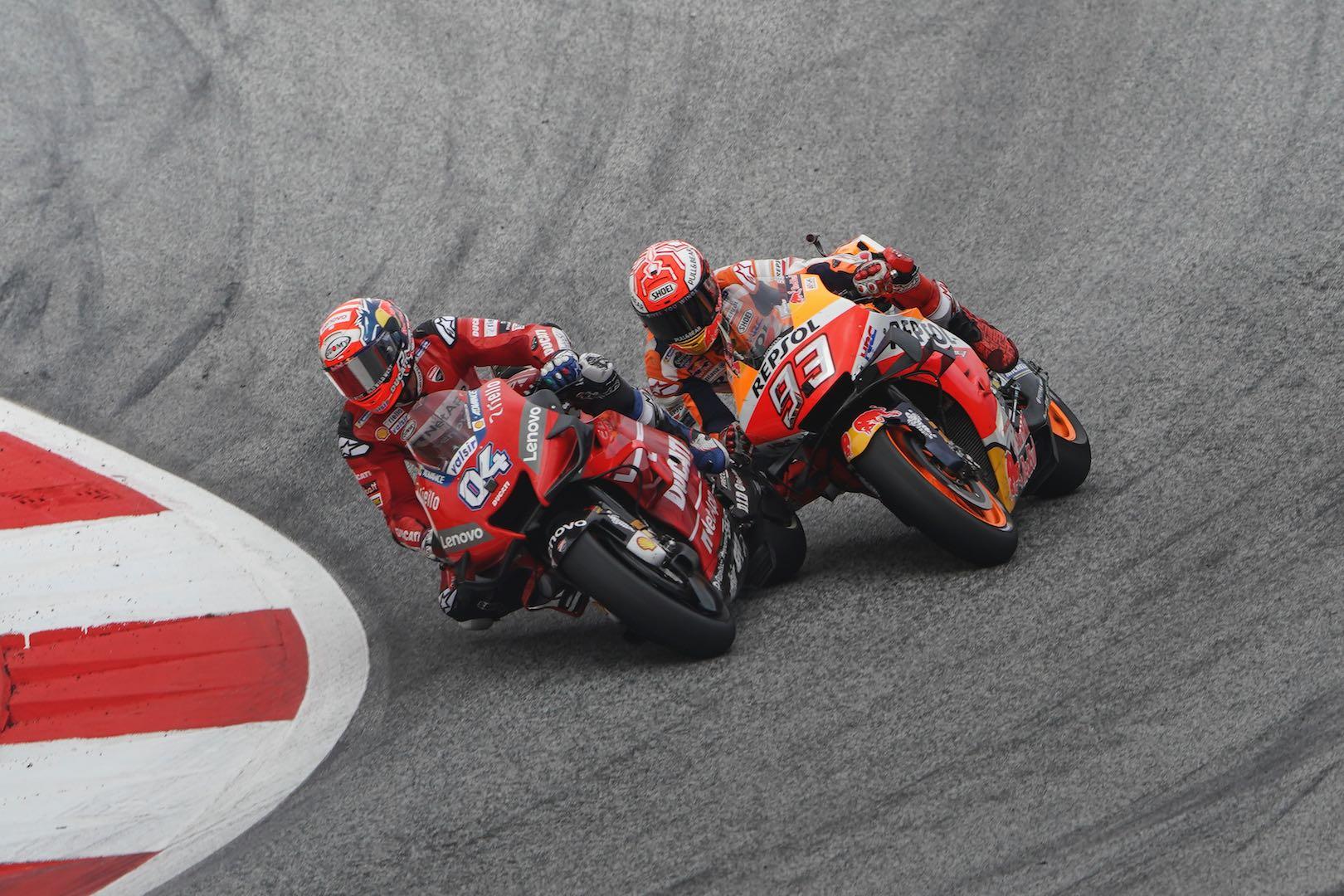 Dovi and Marquez at Austrian MotoGP