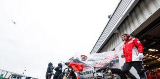 Ducati Team in 2018 Rainy Silverstone