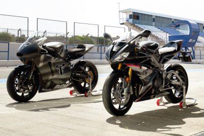 2020 Triumph Daytona Moto2 765 Limited Edition with Moto2 bike