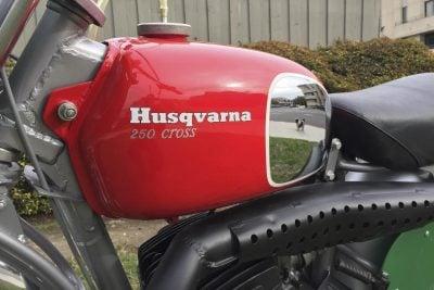 1970 Husqvarna 250 Cross gas tank
