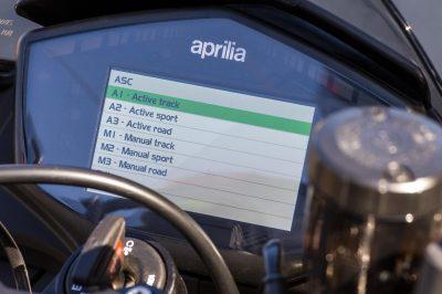 Aprilia Tuono 1100 gauge layout