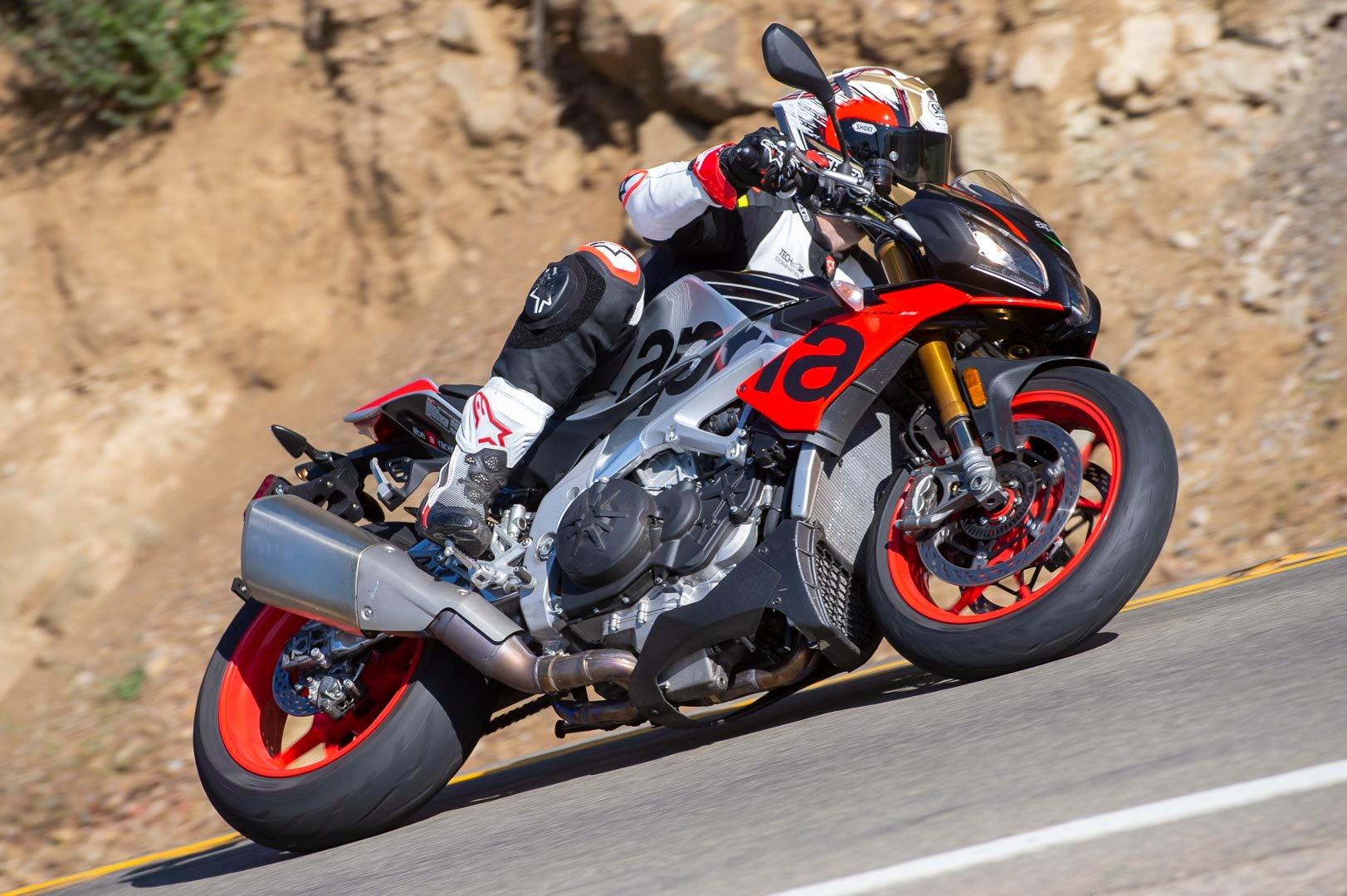 2019 Aprilia Tuono V4 1100 Factory Review Upright Superbike