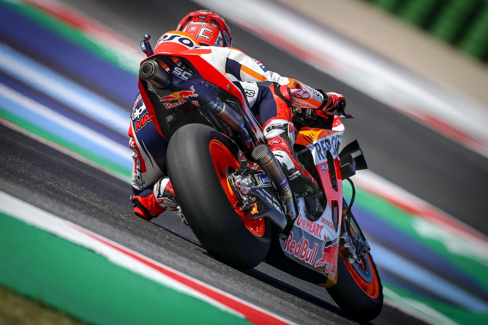 Honda's Marc Marquez at Misano MotoGP 2019