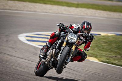 Ducati Monster 1200 S on track