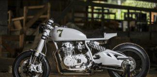 Duke Motorcycles Honda CB500 Four Café Racer - left profile