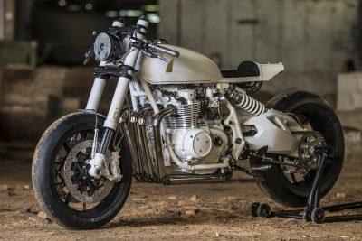 Duke Motorcycles Honda CB500 Four Café Racer - left side