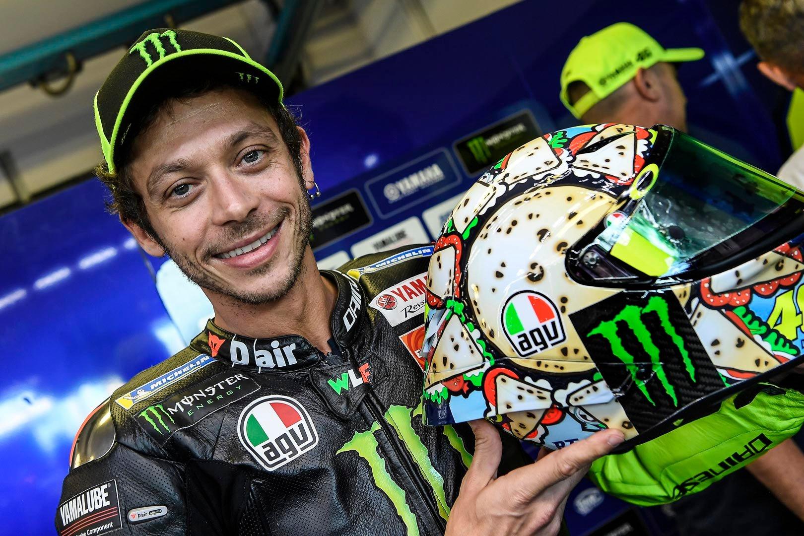 Valentino Rossi 2019 Misano Helmet Revealed 22 Photos