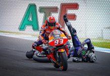 Marquez and Vinales crash 2019 Australian Grand Prix