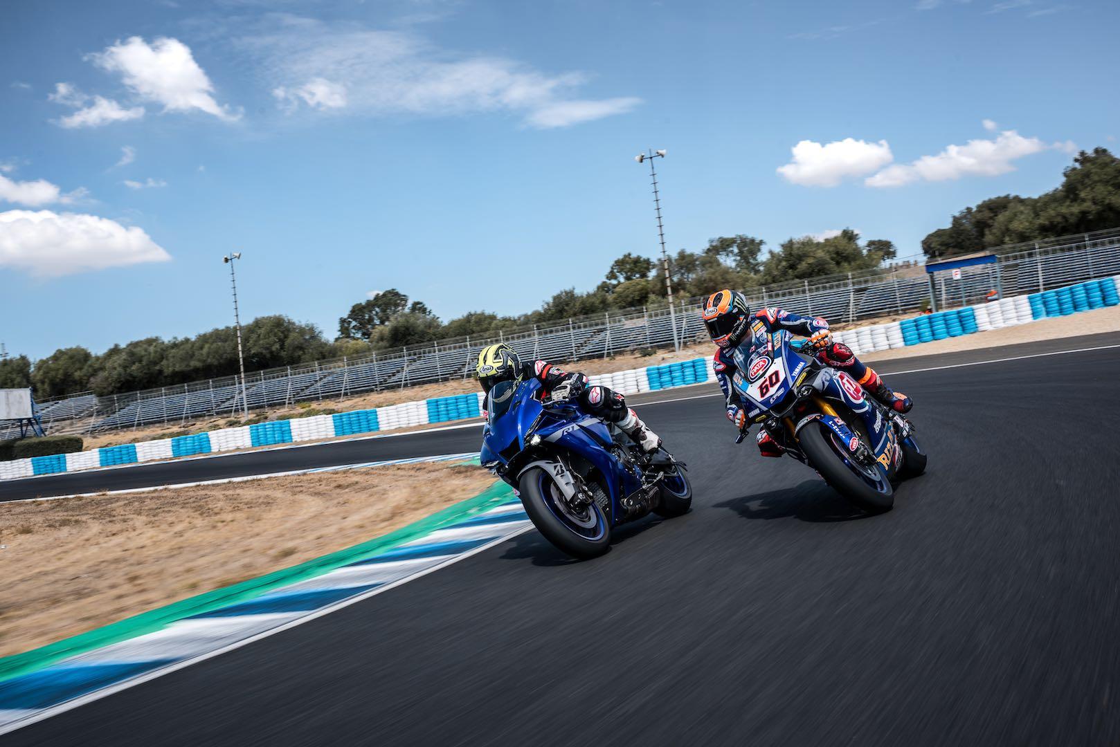 2020 Yamaha R1 with Michael van der Mark