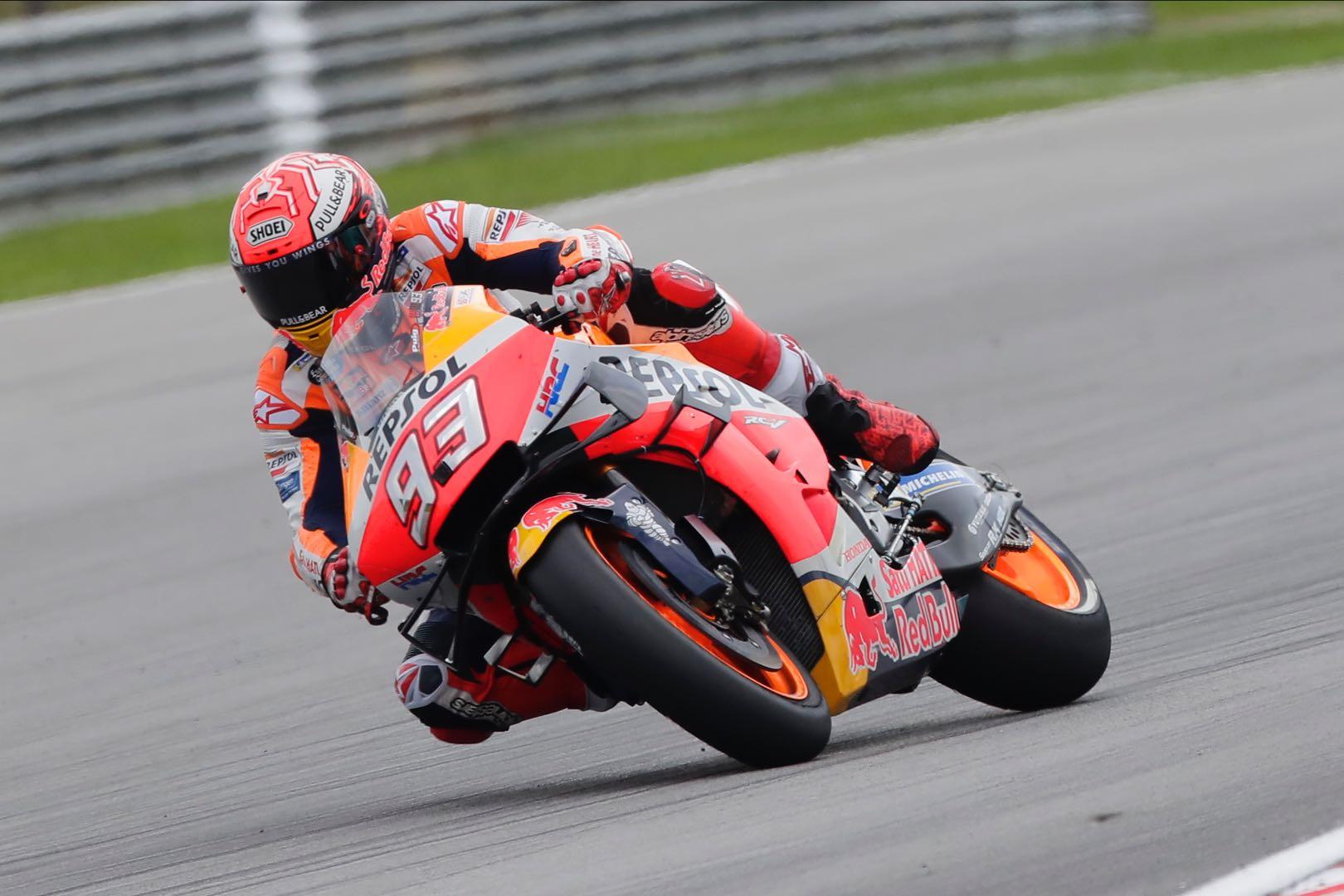 Marc Marquez at 2019 Sepang MotoGP second