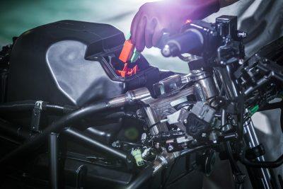Kawasaki Electric Motorcycle - charging