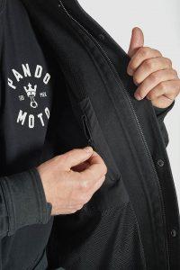 Pando Moto Capo Cor 01 motorcycle jacket - detail
