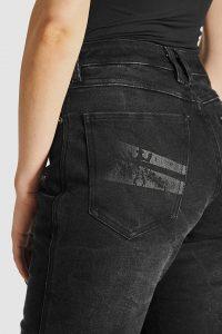 Pando Moto Kissaki Black Women's Jeans rear detail