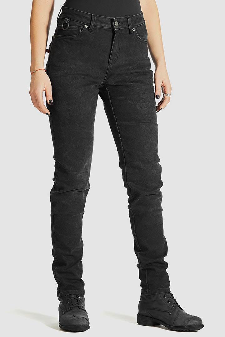 Pando Moto Kissaki Black Women's Jeans Front