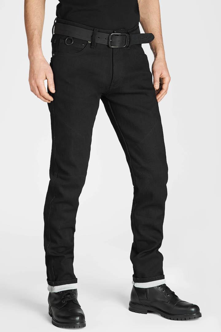 Pando Moto Steel Black 9 Pants - front
